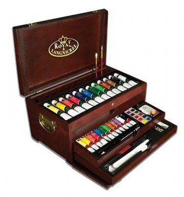 ARTISTS 80 PIECE PAINTING CHEST PREMIER ART SET BY ROYAL & LANGNICKEL
